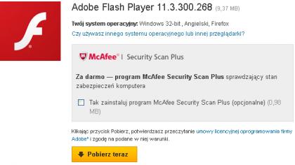 Adobe Zainstaluj program Adobe Flash Player 420x236 Jak naprawić problem z płynnością animacji Flash ? Gry Flash działają zbyt wolno, zacinają się co zrobić ?
