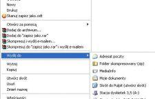 Modyfikacja menu kontekstowego, dodanie wpisu do menu kontekstowego.