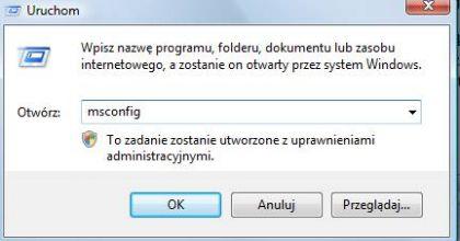 msconfig 420x220 Jak uruchomić komputer w trybie awaryjnym. Jak włączyć tryb awaryjny systemu Windows ?