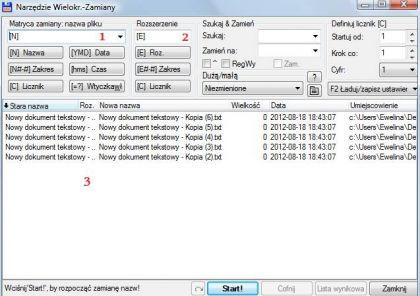 narzedzie wielokrotnej zamiany 420x296 Jak zmienić nazwe wielu plików jednocześnie. Zmiana nazwy kilku plików na raz.
