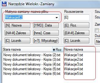 nowa nazwa wielu pliow Jak zmienić nazwe wielu plików jednocześnie. Zmiana nazwy kilku plików na raz.