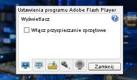 przyspieszenie sprzetowe wylacz Jak naprawić problem z płynnością animacji Flash ? Gry Flash działają zbyt wolno, zacinają się co zrobić ?