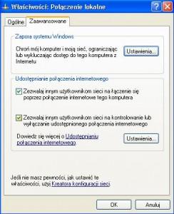 zaawansowane 244x300 Jak udostępnić internet na dwa komputery za pomocą kabla ? Łączymy dwa komputery w sieć.