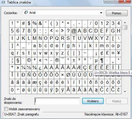 znaki specjalne 1 420x380 Jak napisać znaki specjalne ? Znaki, których nie ma na klawiaturze.