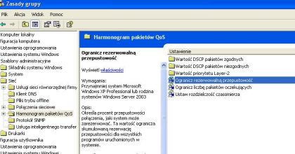 harmonogram pakietow qos 420x220 Jak przyśpieszyć internet   jak zwiększyć prędkość internetu ? Przyspieszenie internetu w Windows za darmo.