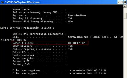 jak odczytac mac karty sieciowej 420x260 Jak sprawdzić adres MAC karty sieciowej ? Jak odczytać fizyczny adres MAC karty sieciowej ?