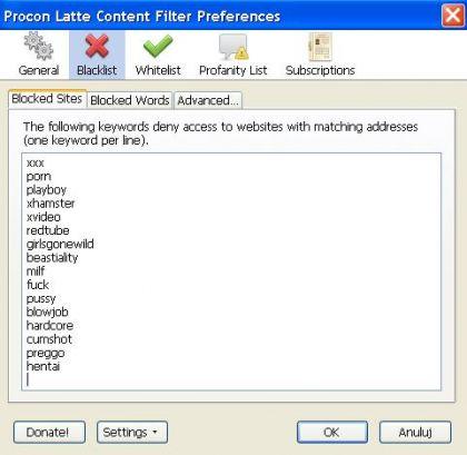 blacklist 420x409 Jak zablokować strony internetowe w Firefox. Blokada stron dla dorosłych w Firefoksie.