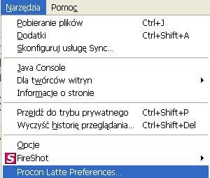 procon latte opcje Jak zablokować strony internetowe w Firefox. Blokada stron dla dorosłych w Firefoksie.