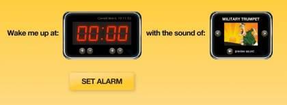 Online Alarm Clock 420x154 Internetowy budzik   komputerowy budzik online. Darmowy budzik w internecie.