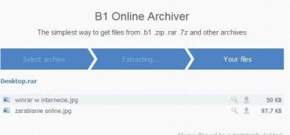 rozpakowywanie plików online