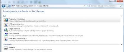 rozwiązywanie problemów z internetem