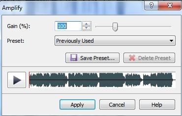 wavepad sound editor zmiana głośności