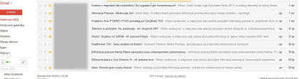 porzadek w gmailu