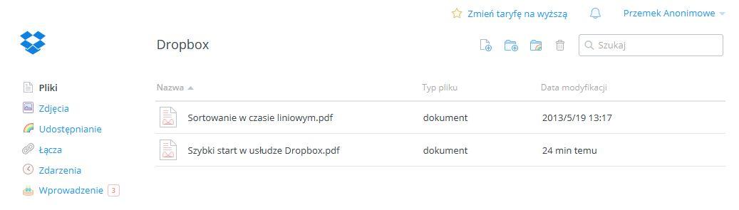 dropbox dysk internetowy