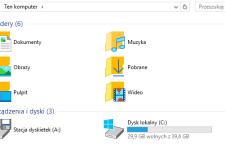 """Usuwanie zakładki """"Foldery"""" z okna Komputera."""