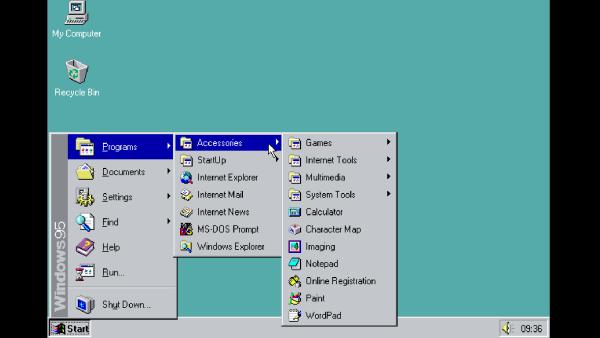 Uruchom Windows 95 w swojej przeglądarce!