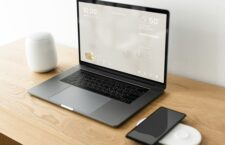 Smart home program on laptop screen